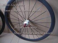 super light 38mm carbon bike wheels,carbon bike wheelset ,38mm tubular 3K bicycle wheels