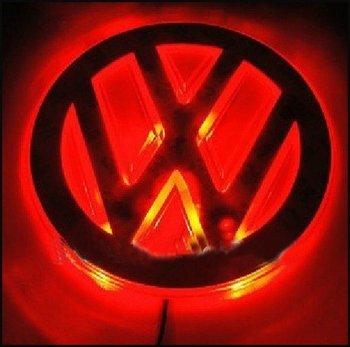 Из светодиодов авто наклейка логотип синий цвет автоматическое светодиодные лампы для фольксваген бесплатная доставка