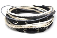 free shipping leather bracelet,wholesale nice fashion handmade bracelet,hot genuine leather bracelet D0020