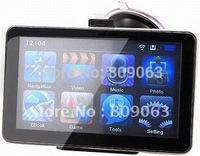 Free Shipping 7 Inch LCD Windows CE 6.0 Core AV Bluetooth GPS Navigator w/FM Transmitter ,4GB Memory Card