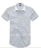 The optimal shark new natural no-iron cotton spinning royal Oxford high-grade man short sleeve shirt