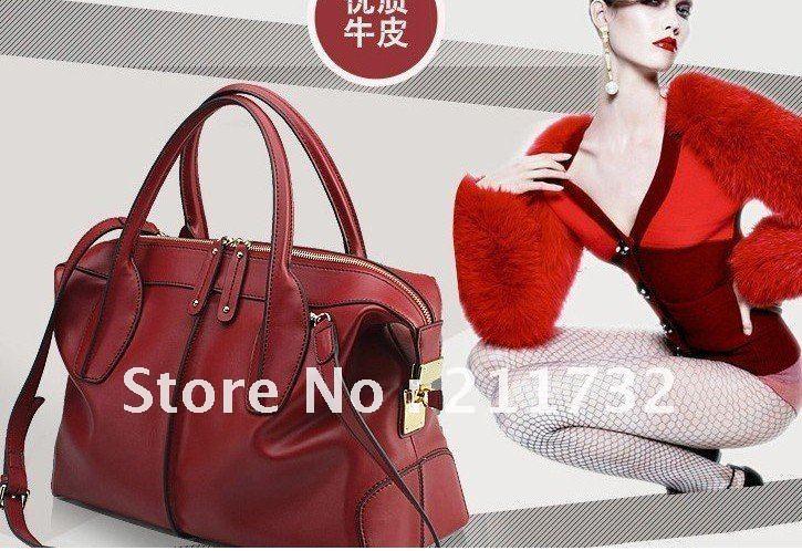 Guaranteed 100% Genuine Leather Women Handbags Mulitfunctional Tote Fashion Ladies s Discount Wholesale Best Selling(China (Mainland))