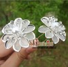 30pcs/lot Free Shipping Hair Jewelry, Crystal Metal Flower+Pearl Hair Pins, Wedding party Bride hair grips
