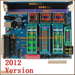 Free Shipping, All in 1,Bios programer,2012 version, support DDR3,51/PIC MCU,EPROM,EEPROM,FLASH,Willem Programmer PCB50(China (Mainland))