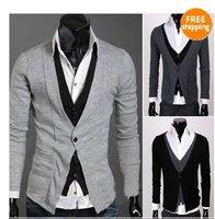 Men's Knitwear Cardigan Fashion Design Slim Casual Sweater Coat Wholesales Men Shirt Spring