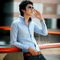 1 pcs  Best Selling!! Men's Slim Luxury Stylish Dress Shirts triangular collar shirt+Free shipping