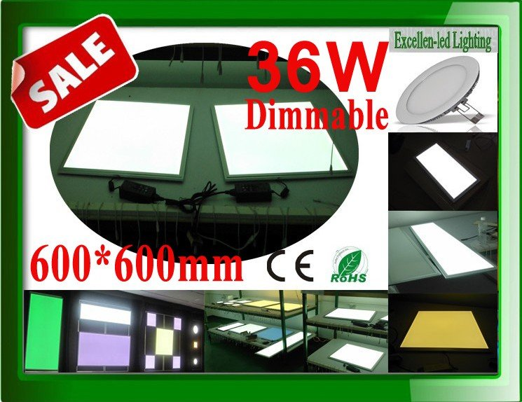 hot sales promotion led panel 600x600 lights dimming 36W 600*600*12mm led panel board High output lumen (LM)(China (Mainland))
