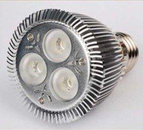 E27 PAR20 9W 3*3W Cool White LED Spot light lamp bulb 900Lm Semileds(USA chip) LED 85-265V ac input