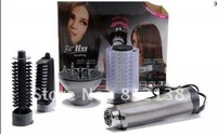 Free shipping  hair brush ,4in1 rotating brush include retail package drying straightening and air rotating brush