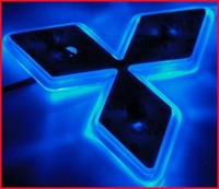 LED Car Decal Logo Light Badge Lamp Emblem Sticker for Mitsubishi Lancer Blue Free Shipping