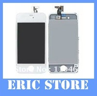 LCD Display+Touch Screen Glass +Frame Complete Replacement  For IPhone 4 4G 4S Assembly white color DHL/EMS freeship 15pcs