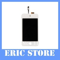 DHL/EMS freeship 15pcs Touch Digitizer & LCD Display Assembly for IPOD TOUCH4 4G 4th white color