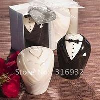 M9 Ceramic Bride and Groom Pepper & Salt Shaker, 4 sets/lot