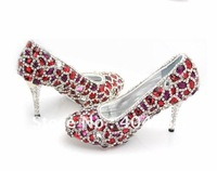 Drop shipping New 2 colors Platforms Sexy high heels shoes wedding  Rhinestone Crystal women's Pumps plus size 33-43