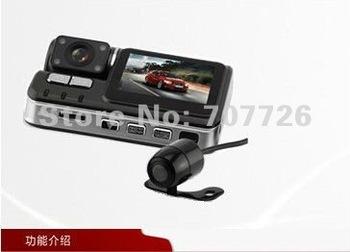 "2012 London Olympics Carcam Dual lens Car DVR X6 2.0""TFT Full HD 720P 140degree A+ grade HD ultra wide angle lens With G-sensor"