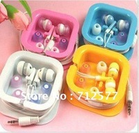 50pcs/lot Free Shipping 3.5mm In-ear Earphones Promotional Earplug Epad/Mid mp3,mp4 With Retail Box