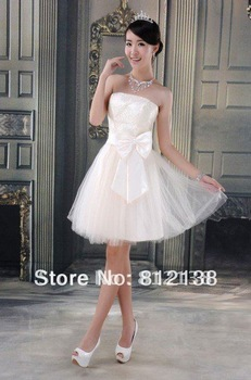 Promotion product  2012 new chiffon bridesmaid dress in Champagne and ivory,  hot sell HS - C500