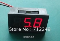 Red LED Voltage meter Voltmeter DC 4.5-30V Panel meter