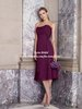FB060 Fashion Sweetheart A-line Plum Pleated Chiffon Bridesmaid Dresses