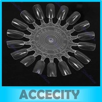 Free Shipping 10 Pcs/Lot False Nail Art Acrylic Display Tips Practice Wheel Board DIY Tool Round