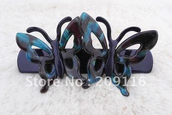 Unique Wholesale 20pcs/lot Multicolor France Cellulose Acetate Double Butterflies Barrettes Hair Clips