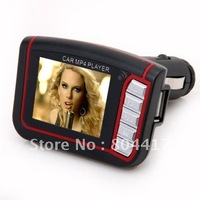 "Wholesale New 1Pcs 1.8"" LCD Car MP3 MP4 Player Wireless FM Transmitter SD MMC Card with Remote control+Free Shipping"