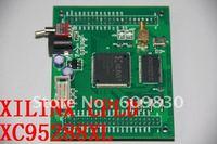 free shipping, XILINX CPLD XC95288XL XC95288XLT144 mini board, SRAM 256K * 16 bits onboard
