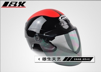 IBK F4-7 bright red black color summer helmet motorcycle helmet safety helmet