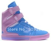 retail & wholesale Women casual  sports shoes /Street dance sneakers 1pair blue pink free shipping