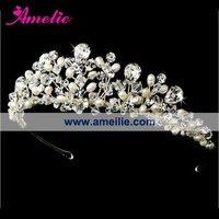 Free shipping-Star RHINESTONE BRIDE Head band/clip heart shape CROWN Tiara Bridal Wedding Party Prom JEWELRY