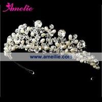 Free shipping-Star RHINESTONE BRIDE Head band/clip heart shape CROWN Tiara Bridal Wedding Party Prom JEWELRY