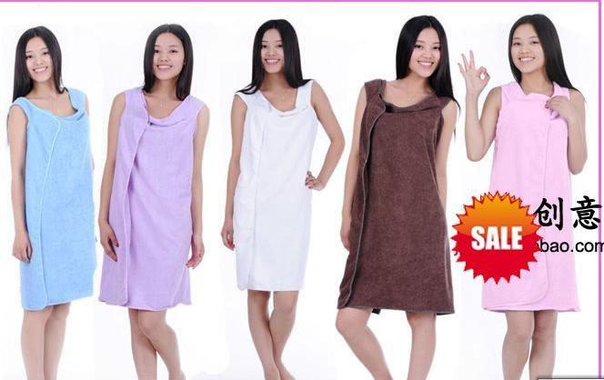 Free shipping bath towel wear bath dress towel bathrobe for Bathroom wear