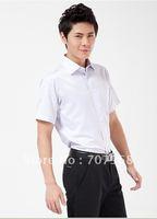 Comfortable cotton business leisure jacquard island shirt men's clothing short sleeve shirt