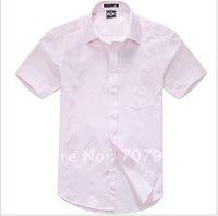 Comfortable cotton business leisure jacquard island shirt men's clothing short sleeve shirt @1023