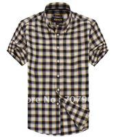 The summer, JDNN, new simple cotton leisure grid man short sleeved shirts men's shirt #30256