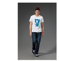 Free shipping--2012 British summer T-shirts bear pattern/ short sleeve T-shirt