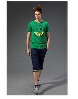 Free shipping--2012 smile men Cotton Short Sleeve T-Shirt