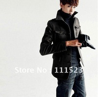Free shipping Retail and wholesale British style Single-breasted Man coat mens trench Model No:308-830
