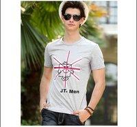 Free shipping--2012New spring box Sir Jack printed short-sleeve T-shirt