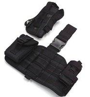 SWAT Component Pouch Molle Drop Leg Pistol Holster BK free ship