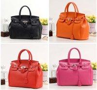 Free shipping women's designer fashion package zipper portable hand bag for lady pu leather handbag 35CM*15CM*29CM 8colors BB034