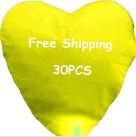30 pieces/Lot Yellow Love Heart  Lantern Flashlight For Valentine&amp;#39;s Day Free Shipping