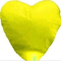 Wholesale Yellow Love Heart Flying Lantern Free Shipping To Worldwide