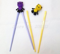Free Shipping! Wholesale 10Pairs/lot Children Kid Baby Beginner Easy Fun Learning Training Helper Cartoon Style Chopsticks