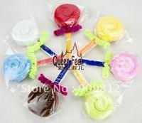 Free Shipping Monochrome lollipop cake towel, Children's day gift towel, Wedding return gift, 28g 10pcs/lot