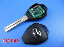 4D Duplicable Key Toy48 For Toyota (short) with groove.,Locksmith tools,remote key shell.transponder key shell(China (Mainland))