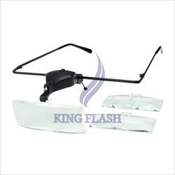 free shipping Clip On 1.5X/2.0X/3.0X Magnifier Eye Glasses Magnifying Lens glass Readable Tester New(China (Mainland))