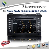 Virtual 8 DISC 3D UI 7.0&#39;&#39; Car DVD GPS iPod BT TV MFD for Toyota Prado 120 (2002-2009) Sirf Prima +4G Map