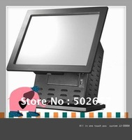 All in one 15'' touch pos system/pos machine/pos terminal/pos machine for restaurant and retail shops JJ-2000A