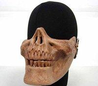 Seal Skull Skeleton Half Face Protector Mask Brown free ship